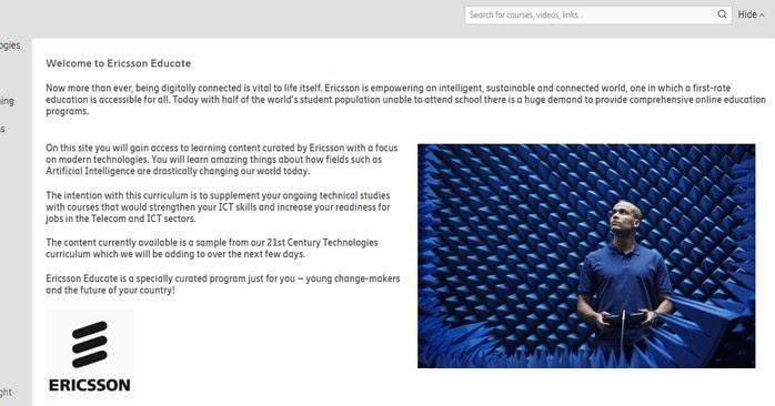 Ericsson Educate, un nouveau programme d'apprentissage numérique pour les étudiants